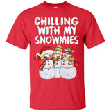 Chilling With My Snowmies T-Shirt Funny Christmas Snowman
