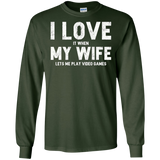 Mens I Love It When My Wife Lets Me Play Video Games T Shirt