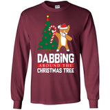 Dabbing Around the Christmas Tree Corgi Shirt Funny Gift