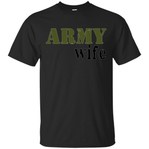 PREMIUM Proud Army Wife Tshirt Military Tee Support