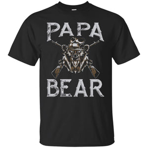 Papa Bear Shirt Gangster Birthday Christmas Fathers Day Gift