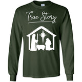 Christian Christmas Shirts True Story Jesus Celebrate Love