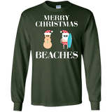 Merry Christmas Beaches Florida Family Vacation T-Shirt
