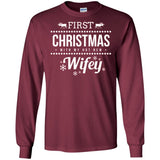 Mens First Christmas With My Hot New Wifey Christmas Couples Tee