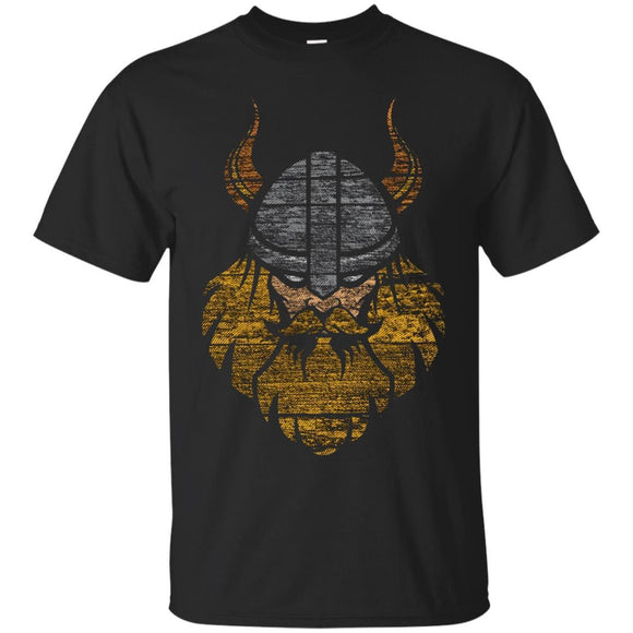 Vintage Viking Head And Helmet Warrior Graphic Art