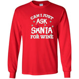 Funny Ask Santa For Wine Christmas T-shirt Gifts