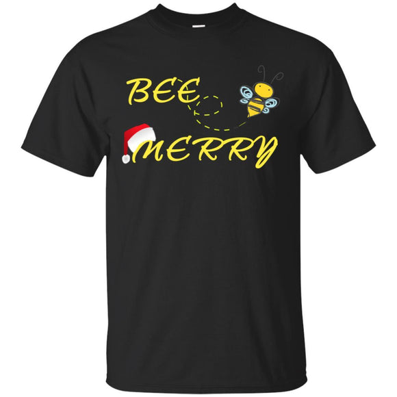 Christmas Bee Merry Funny Beekeepers T shirt Bee Whisperer