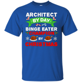 Architect Binge Eater T-shirt Food Christmas Holidays Xmas