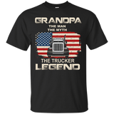 Grandpa The Trucker Legend | Funny Truck Driver T shirts