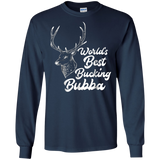 Mens World's Best Bucking Bubba | Funny Dad Hunting Shirt