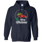 Merry Christmas Firefighter Truck Pine Tree Shirt Xmas Gifts