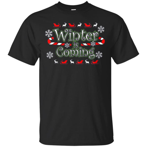 Christmas is Coming Winter Reindeer Candy Canes T Shirt