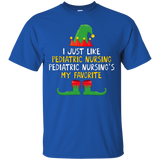 Elf Pediatric Nursing Christmas T-shirt Nursing My Favorite