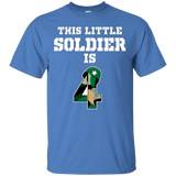 Kids 4th Birthday Boys Soldier Kids T-Shirt Military 4 Year Old