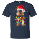 Yorkie Christmas T-Shirt Yorkie Dog Christmas T-Shirt