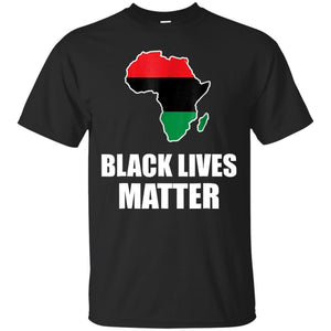 Black Lives Matter Tshirt in Pan African Colors Tee JAQ T-Shirt