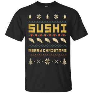 SUSHI Ugly Christmas Sweater T-Shirt Vintage Retro Style, hoodie, tank