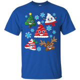 Funny Emoji Christmas Poop Cute Holiday Snowflake T-Shirt