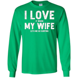 Mens I Love It When My Wife Lets Me Go Surfing T Shirt