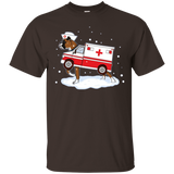 Boxer Ambulance Christmas Puppy Funny Nurse Doctor T-shirt