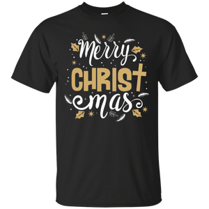 Christian T-Shirt Merry Christmas Cross Holiday Faith Gift