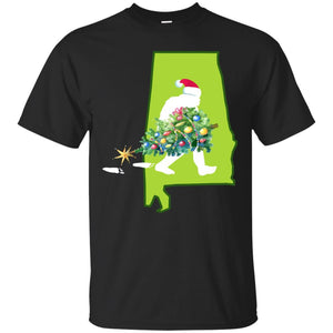 Alabama Bigfoot State Christmas Tree T Shirt T-Shirt Mugs