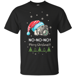 Photographer Christmas T-Shirt. Gift for photography lover