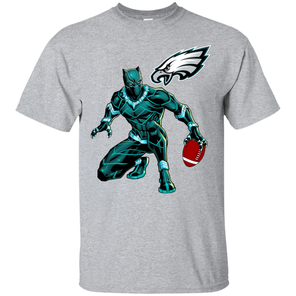 Black Panther Eagles Logo Football Team T-Shirt