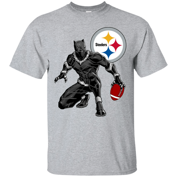 Black Panther Steelers Logo Football Team T-Shirt