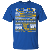 January Aquarius Fact - The Best Are Born In January T-Shirt