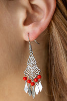 Island Import - Red Earrings