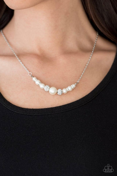 Absolutely Brilliant - White Necklace