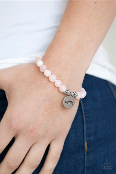 Faith it, till you make it - Pink Bracelet