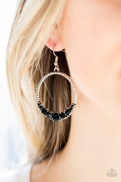 Self-Made Millionaire - Black Earrings
