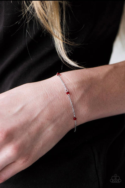 A Pinch of Sparkle - Red Bracelet