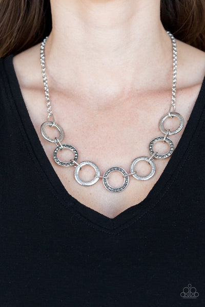 Modern Day Madonna - Silver Necklace