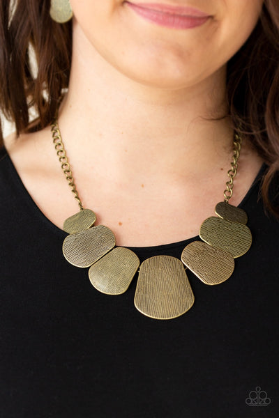 CAVE the Day - Brass Necklace