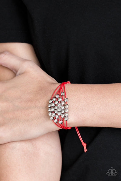 Without Skipping A BEAD - Red Bracelet