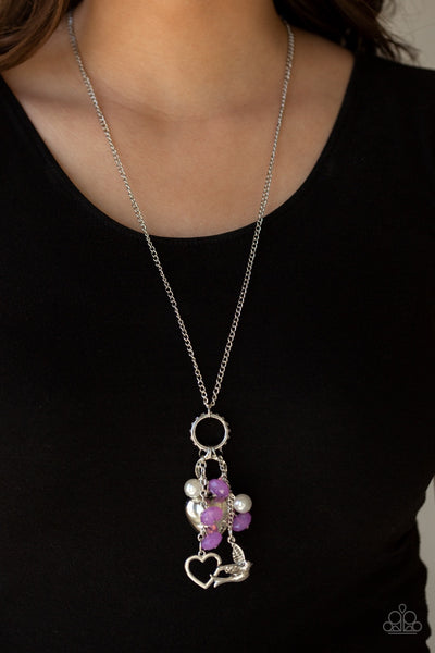 I Will Fly - Purple Necklace