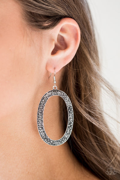 Rhinestone Rebel - Silver Earrings