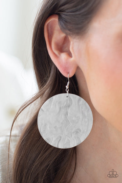 SEA Where It Goes - White Earrings