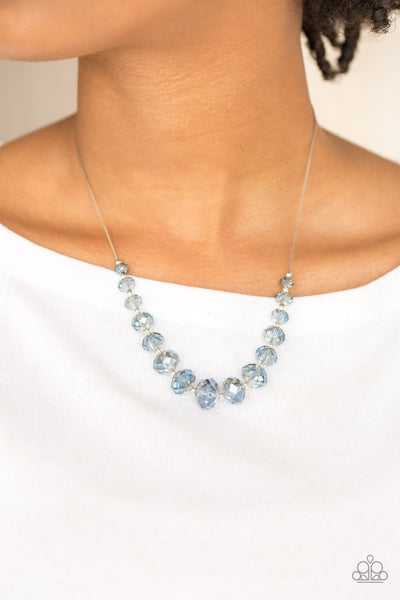 Crystal Carriages - Blue Necklace