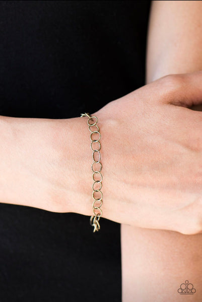 No Small Feat - Brass Bracelet