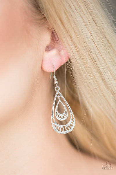 Reigned Out - Silver Earrings