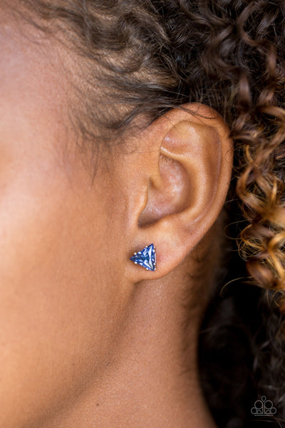 Prismatic Shine - Blue Earrings