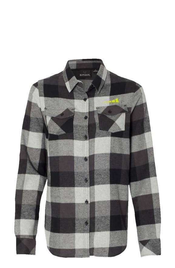 Women's Long Sleeve Grey Flannel