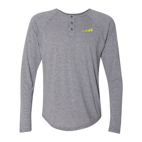 Tri-blend Long Sleeve Henley (M)
