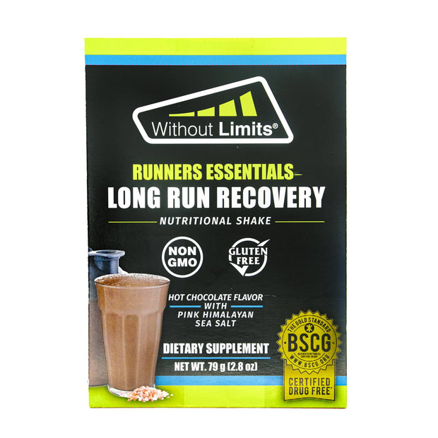 LONG RUN RECOVERY Nutritional Shake - Hot Chocolate Flavor with Pink Himalayan Sea Salt