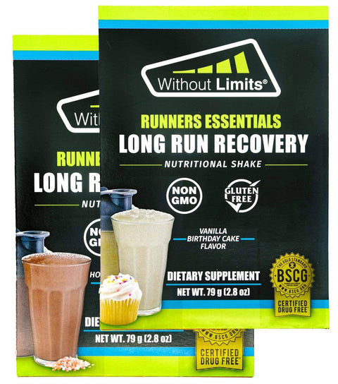 Hot Chocolate Flavor + Vanilla Birthday Cake Flavor - Twin Pack Sampler - Without Limits™ Runners Essentials
