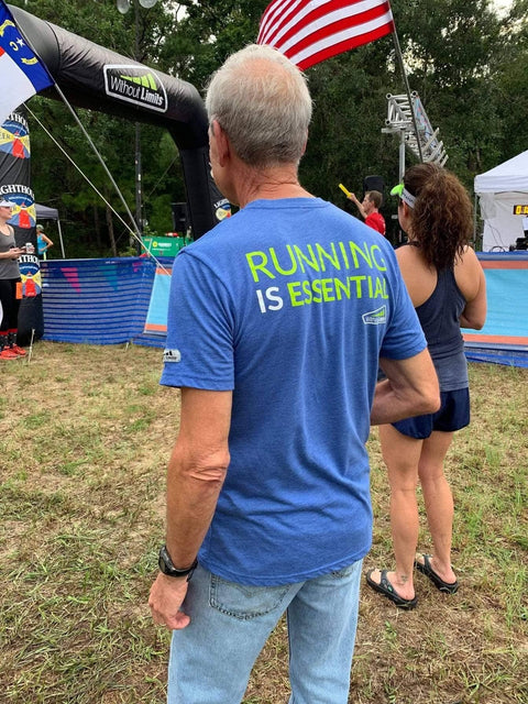 Running Is Essential T-Shirt  - FREE with any 3 Month Vitamin or 12-24 Shake Purchase